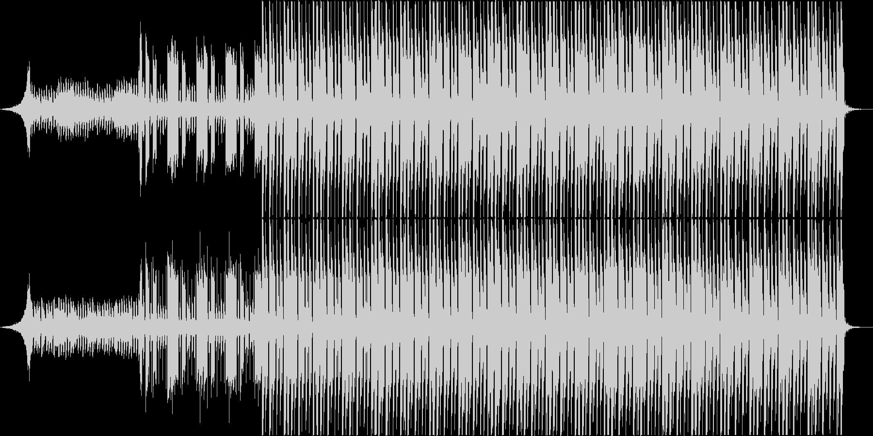 知的なレイ・ハラカミ風アートBGMの未再生の波形