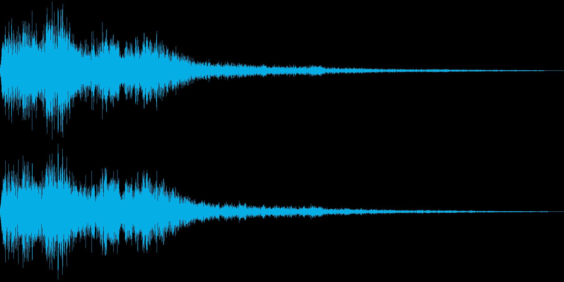 決定音(ゲーム風の高い金属音)の再生済みの波形