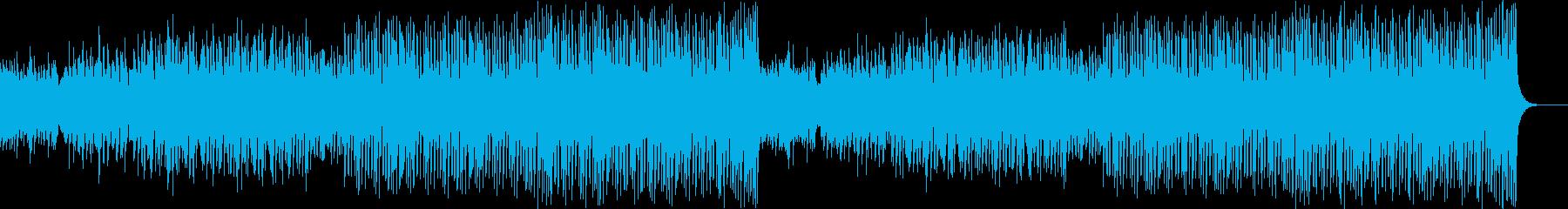 ダンステクノミュージックの再生済みの波形