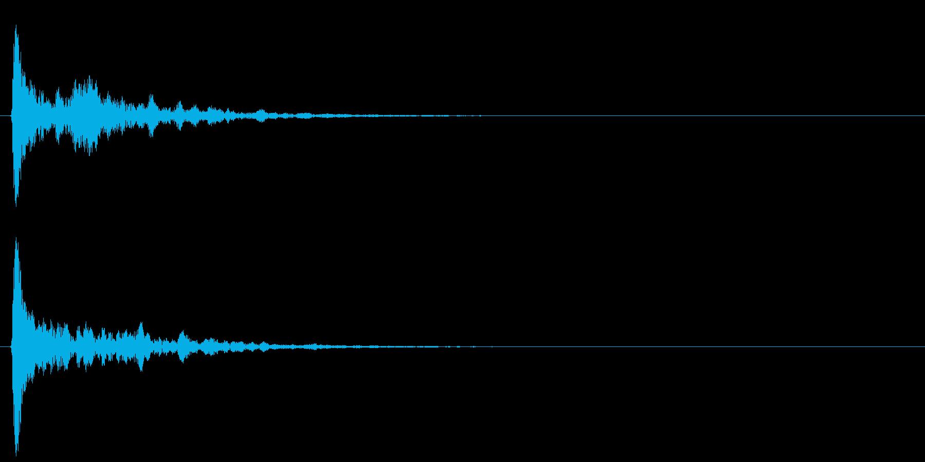 鼓(つずみ)っぽい太鼓の音、和太鼓、ぽ…の再生済みの波形