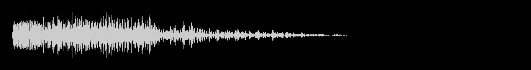 ベタなhiphop風の効果音の未再生の波形