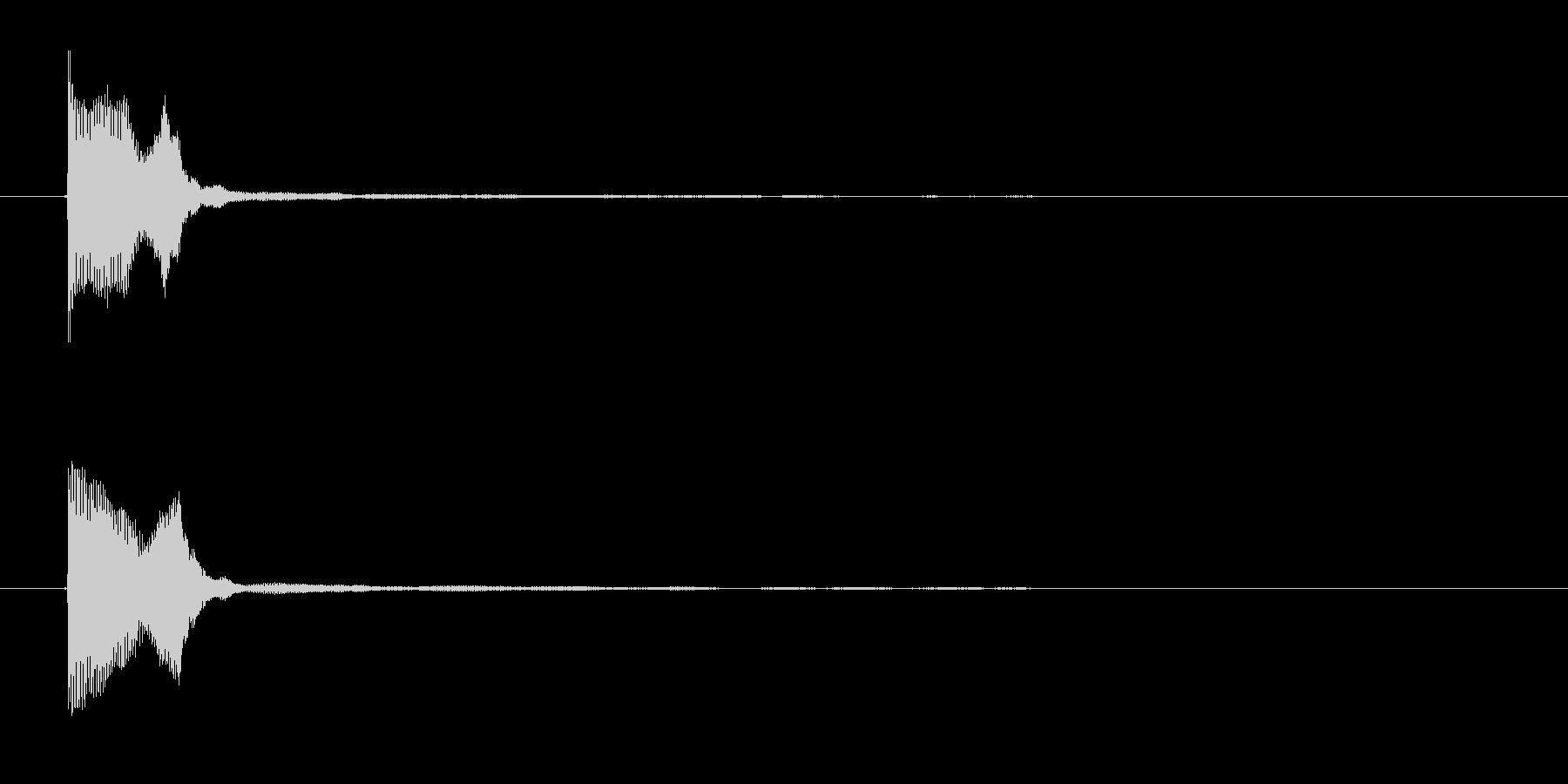 ゲームコマンド音2 選択音 K12の未再生の波形