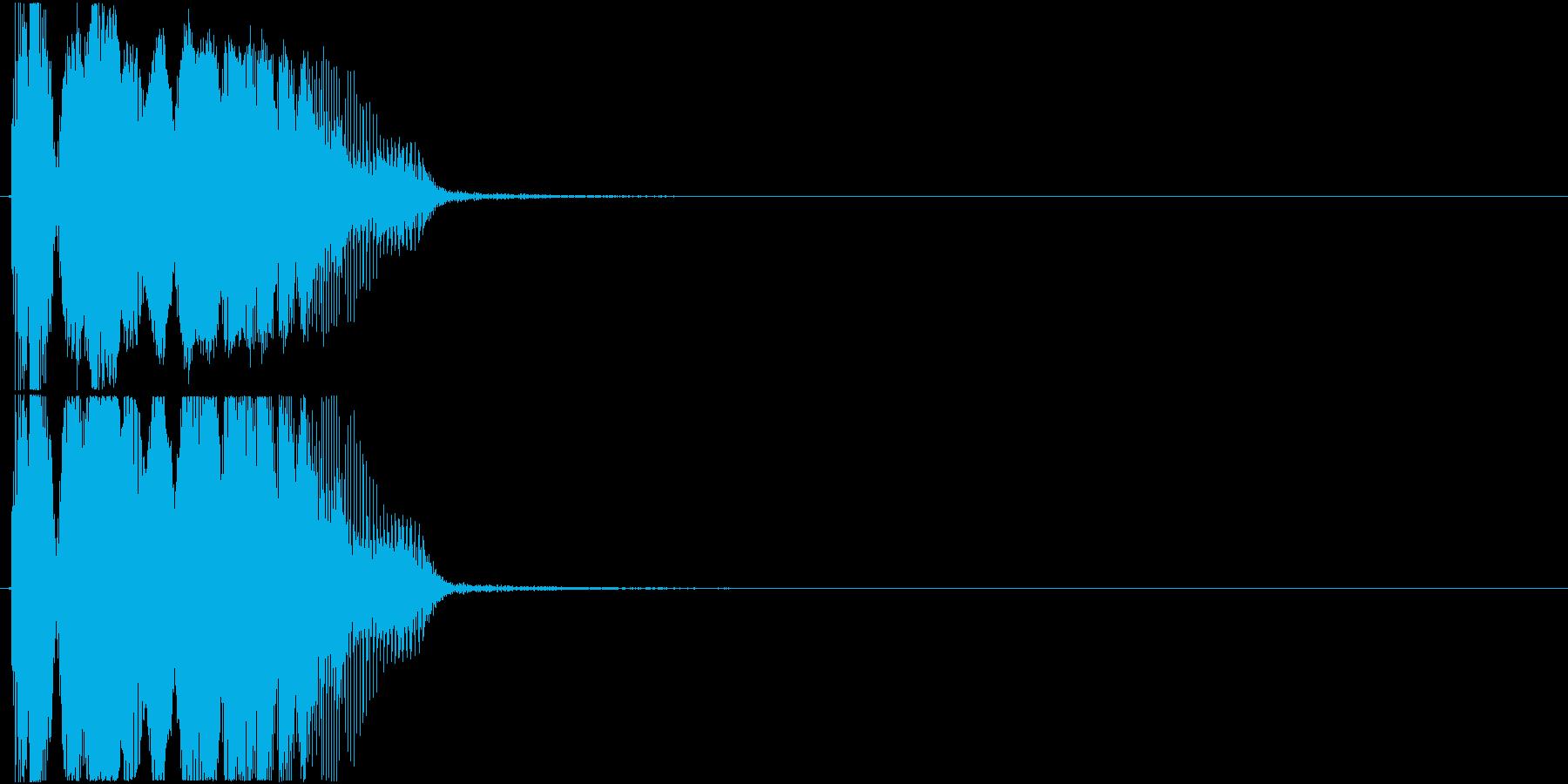 「カモン」アプリ・ゲーム用2の再生済みの波形