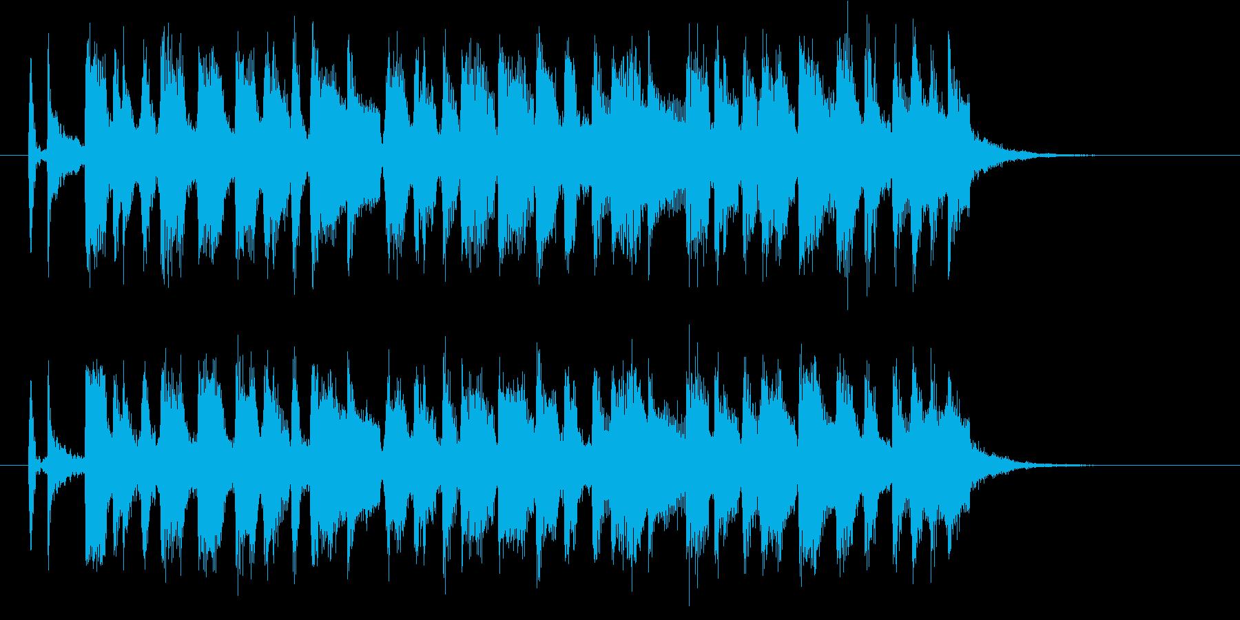 元気なホーンの楽しいポップスの再生済みの波形
