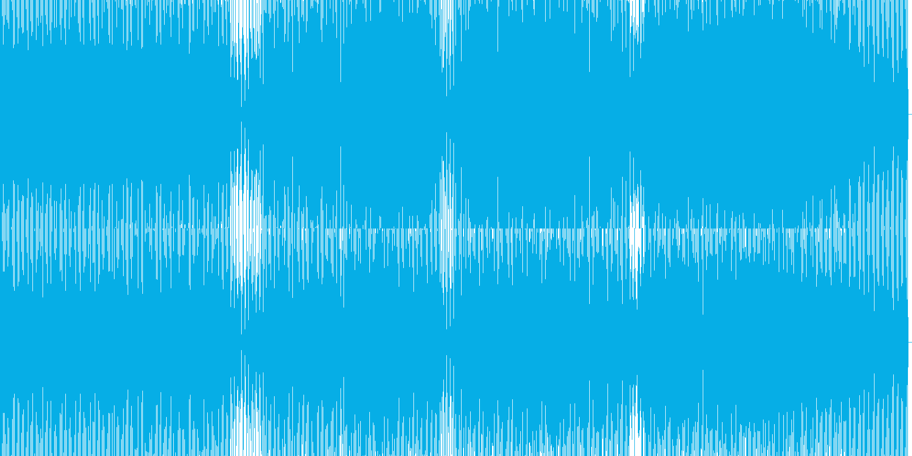 疾走感あるテクノの再生済みの波形