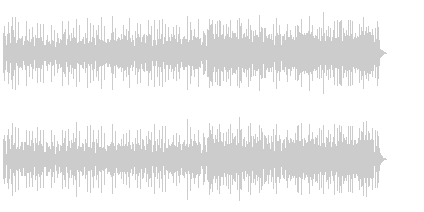 定番BGM風メインストリーム・ポップスの未再生の波形