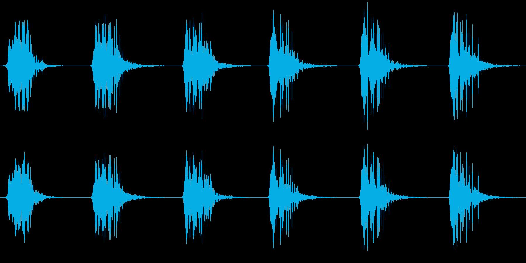 オジロワシの鳴き声の再生済みの波形