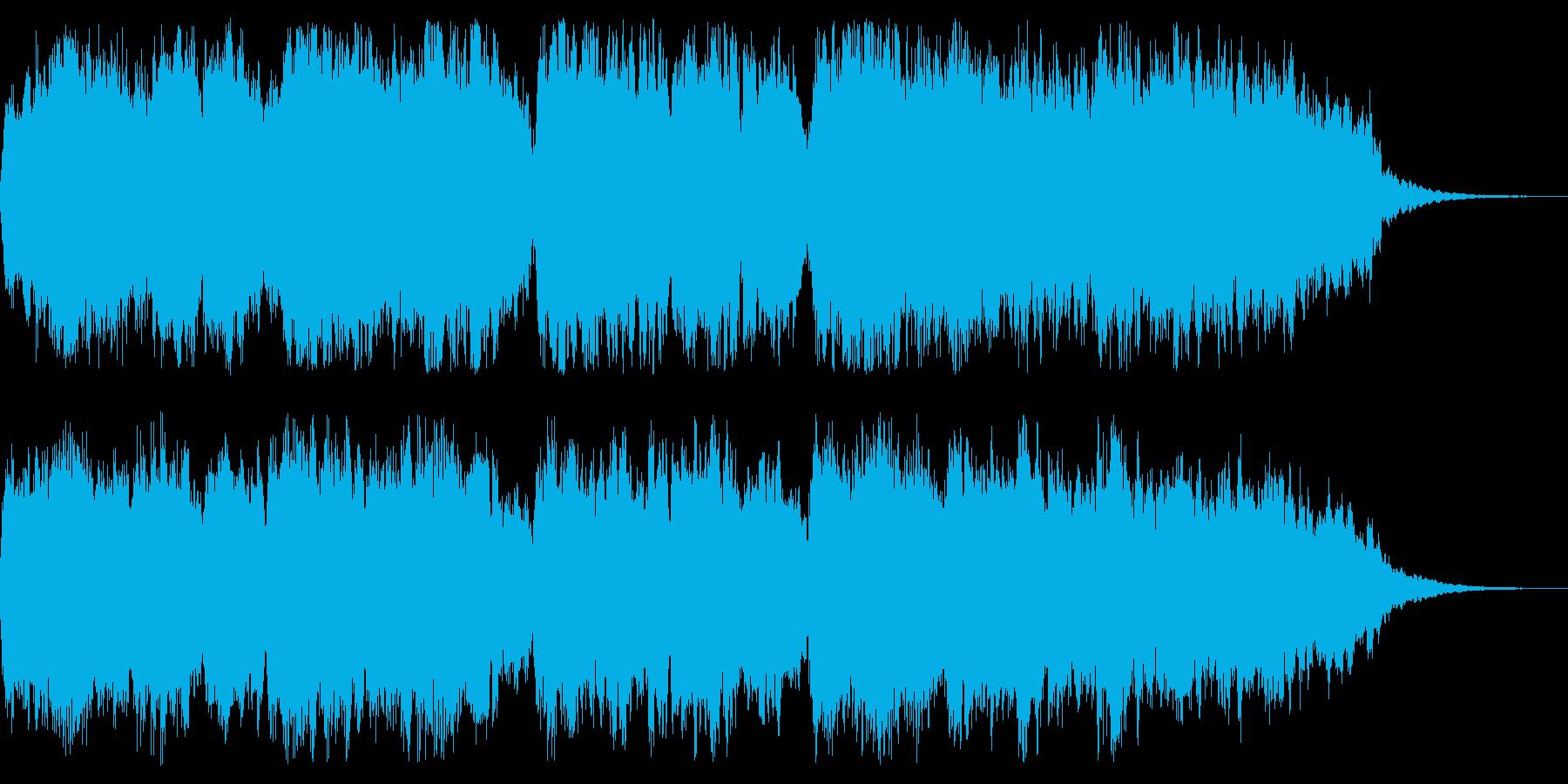 クリスマスをイメージした20秒ジングルの再生済みの波形