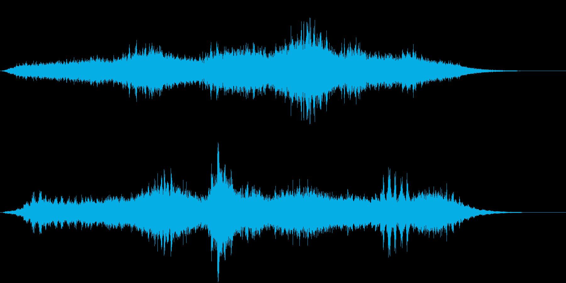 シンセによる怪しげな虫の音の大合唱の再生済みの波形