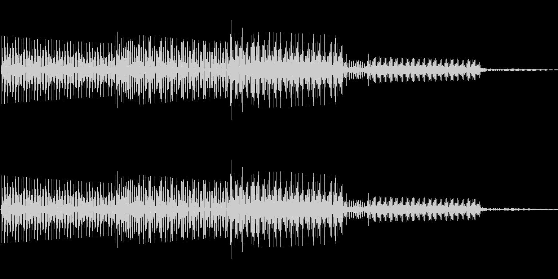 ボタン決定音システム選択タッチ登録B03の未再生の波形