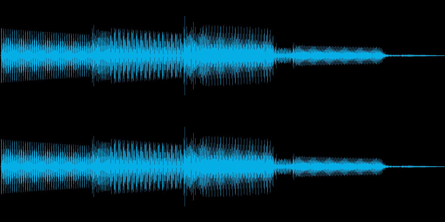 ボタン決定音システム選択タッチ登録B03の再生済みの波形