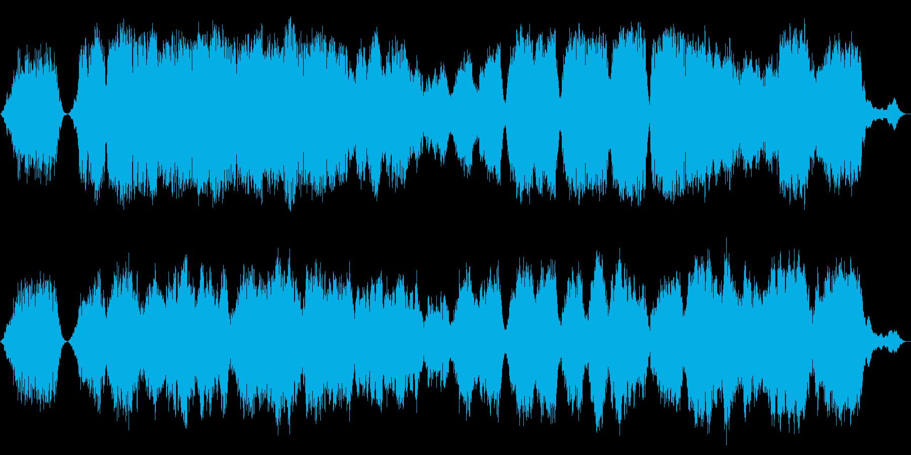 悲しく神秘的な曲の再生済みの波形
