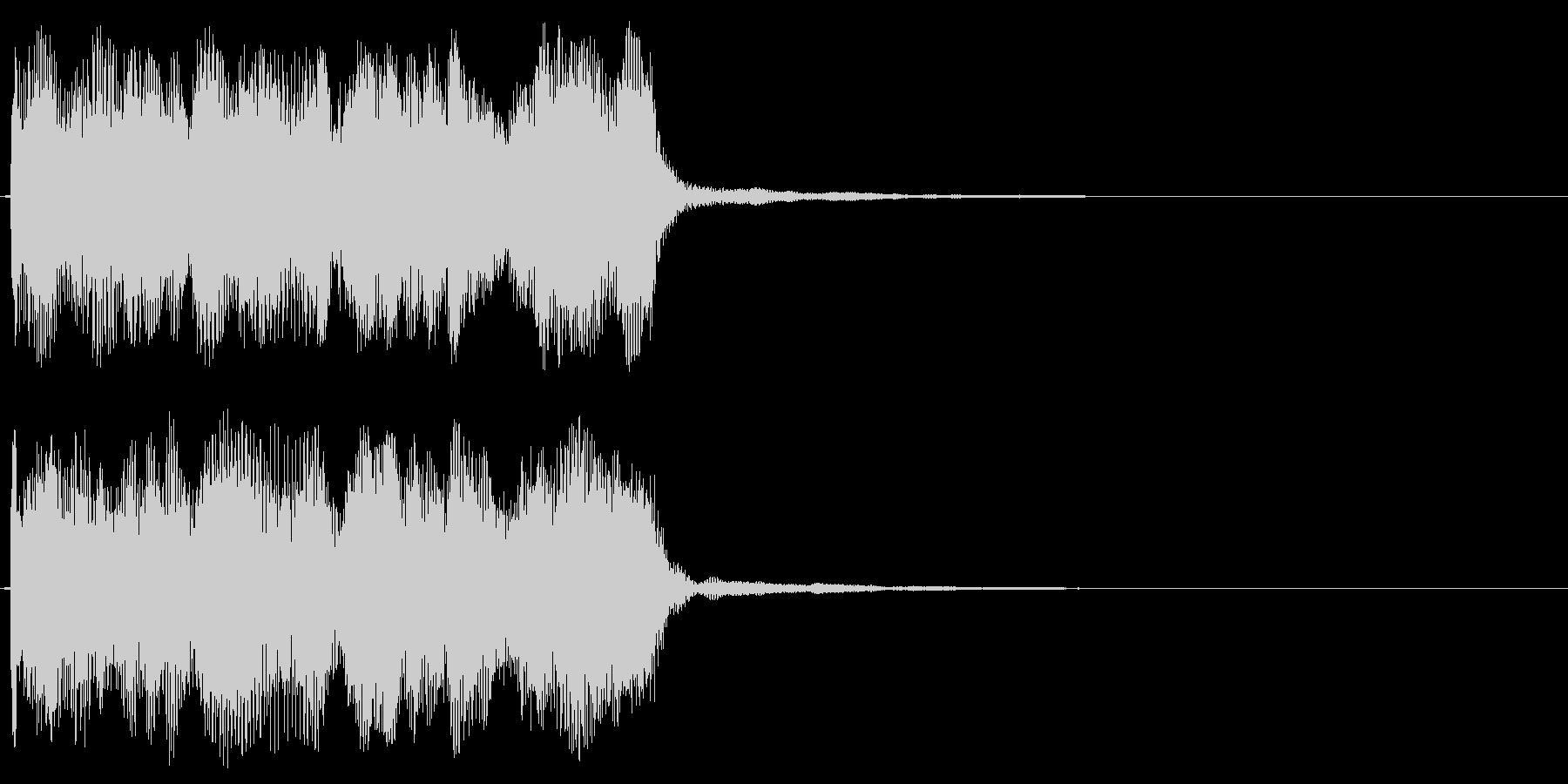 コミカルなミス音 不正解 ダダー 変な音の未再生の波形