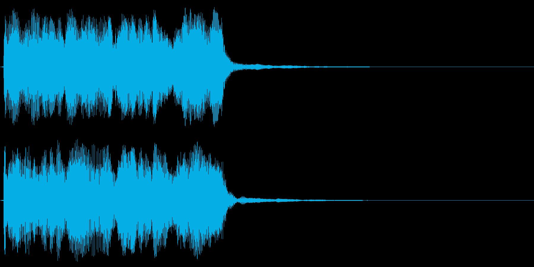 コミカルなミス音 不正解 ダダー 変な音の再生済みの波形