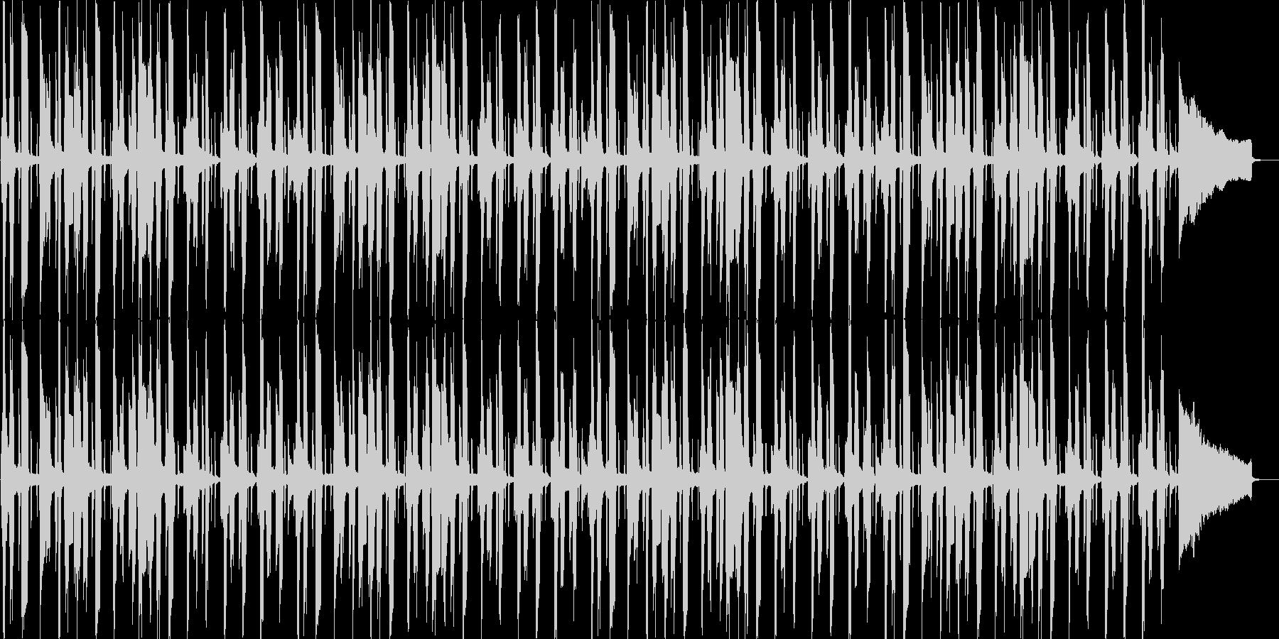 やる気の無い雰囲気のブルース2の未再生の波形