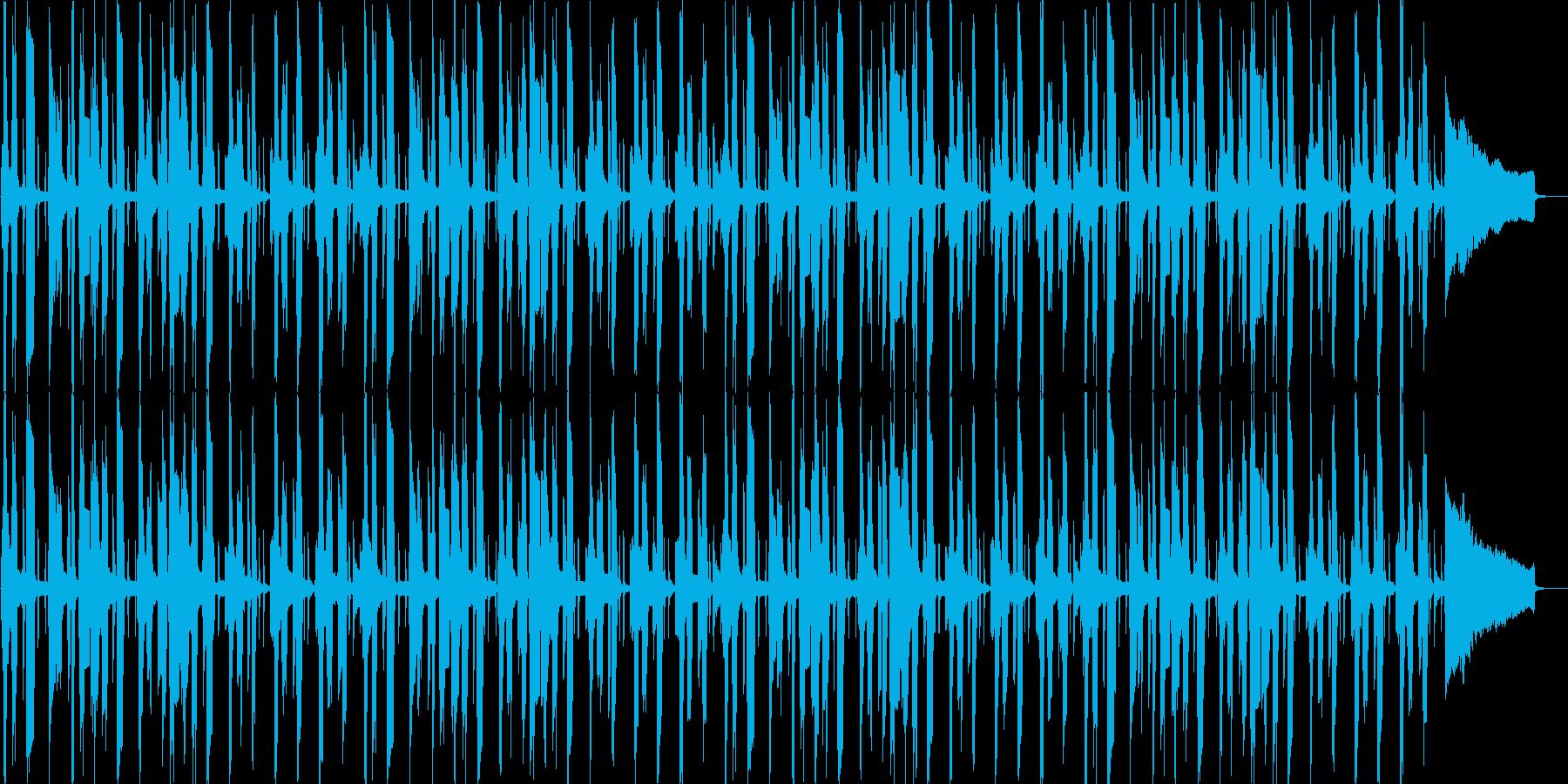 やる気の無い雰囲気のブルース2の再生済みの波形