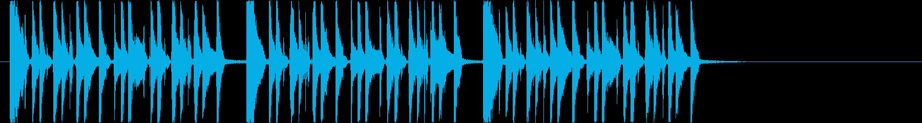 リズミカルでアップテンポなシンセジングルの再生済みの波形