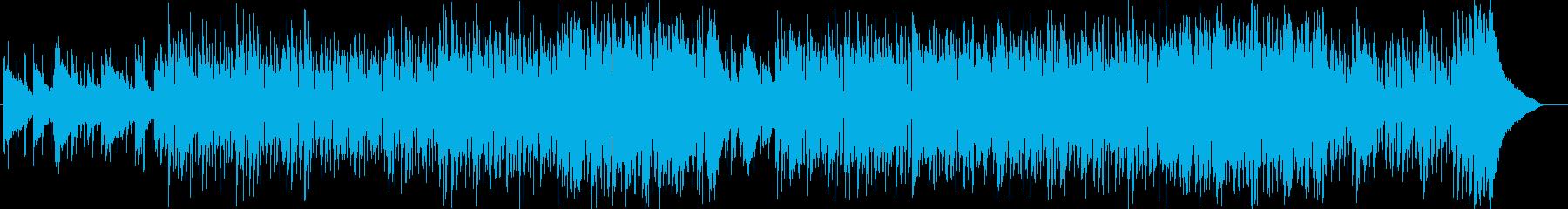 ドラマチックなシンセサイザーサウンドの再生済みの波形
