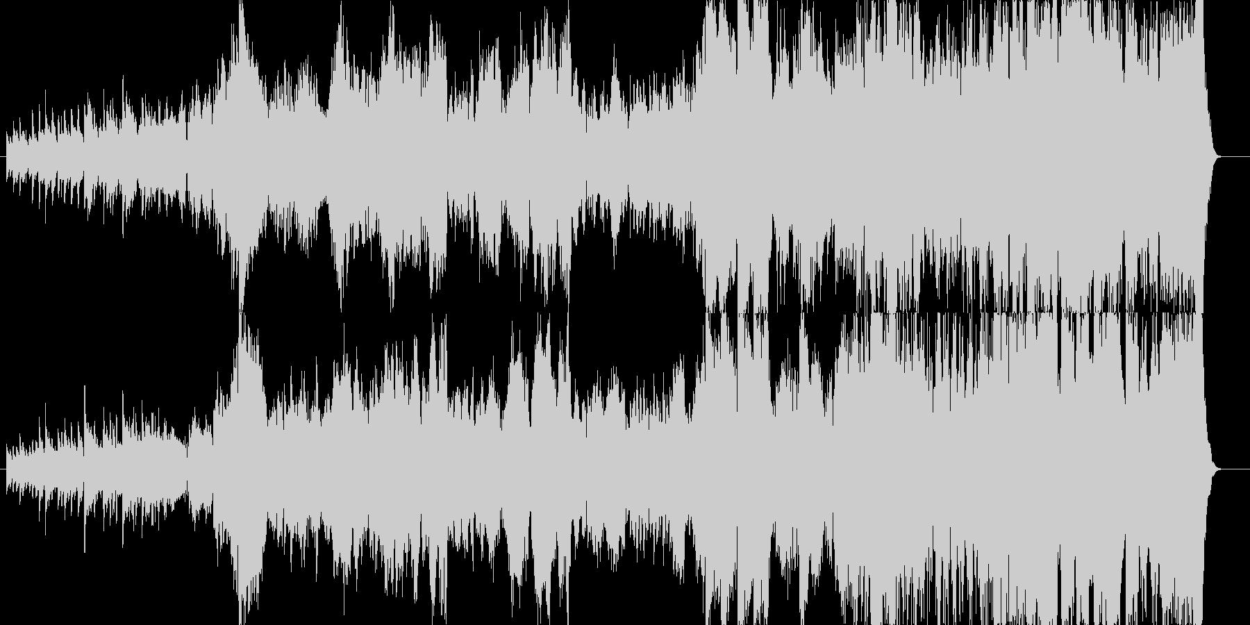 大河ドラマのようなオーケストラ調の未再生の波形