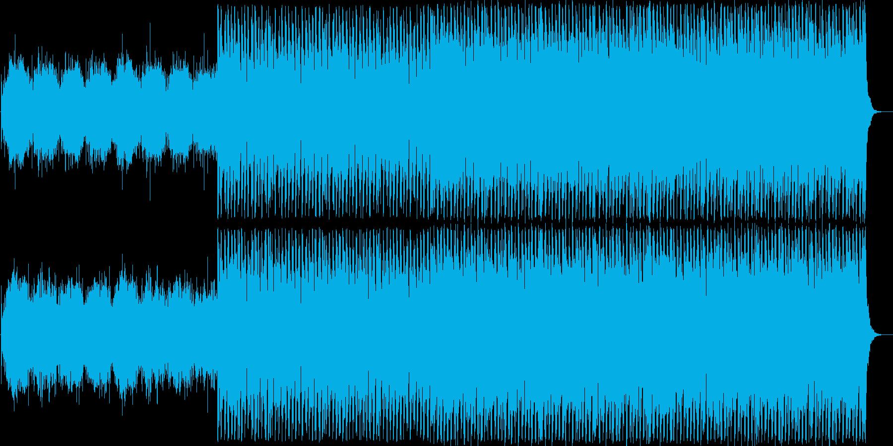 クールでスタイリッシュ、ちょっと不穏な曲の再生済みの波形