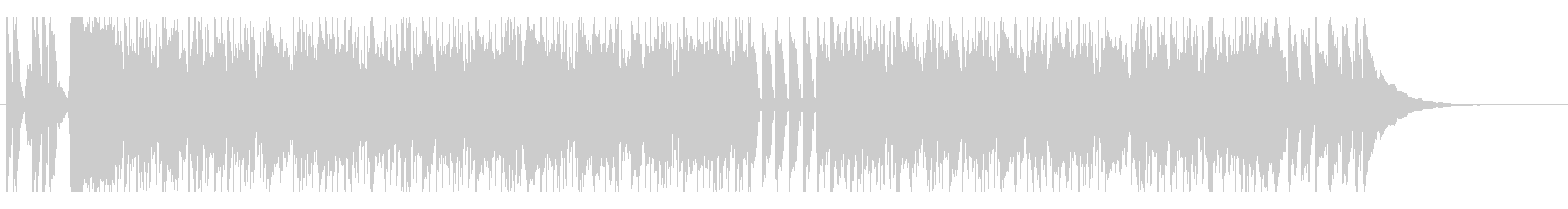 コミカルなファンク系バンドサウンドの未再生の波形