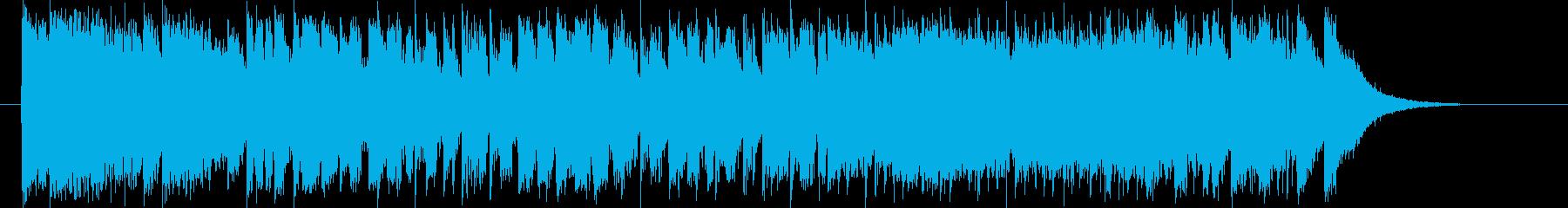80年代風シンセのアップテンポなポップスの再生済みの波形