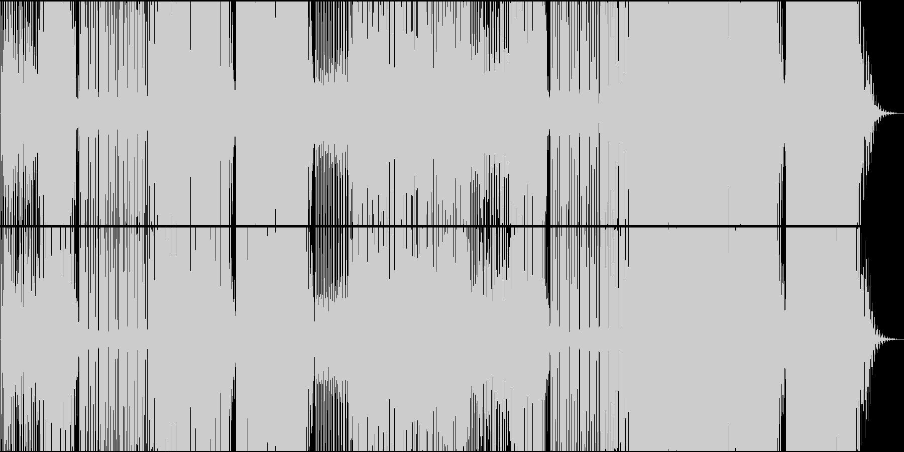 映像用ゆったりReggaeton系EDMの未再生の波形