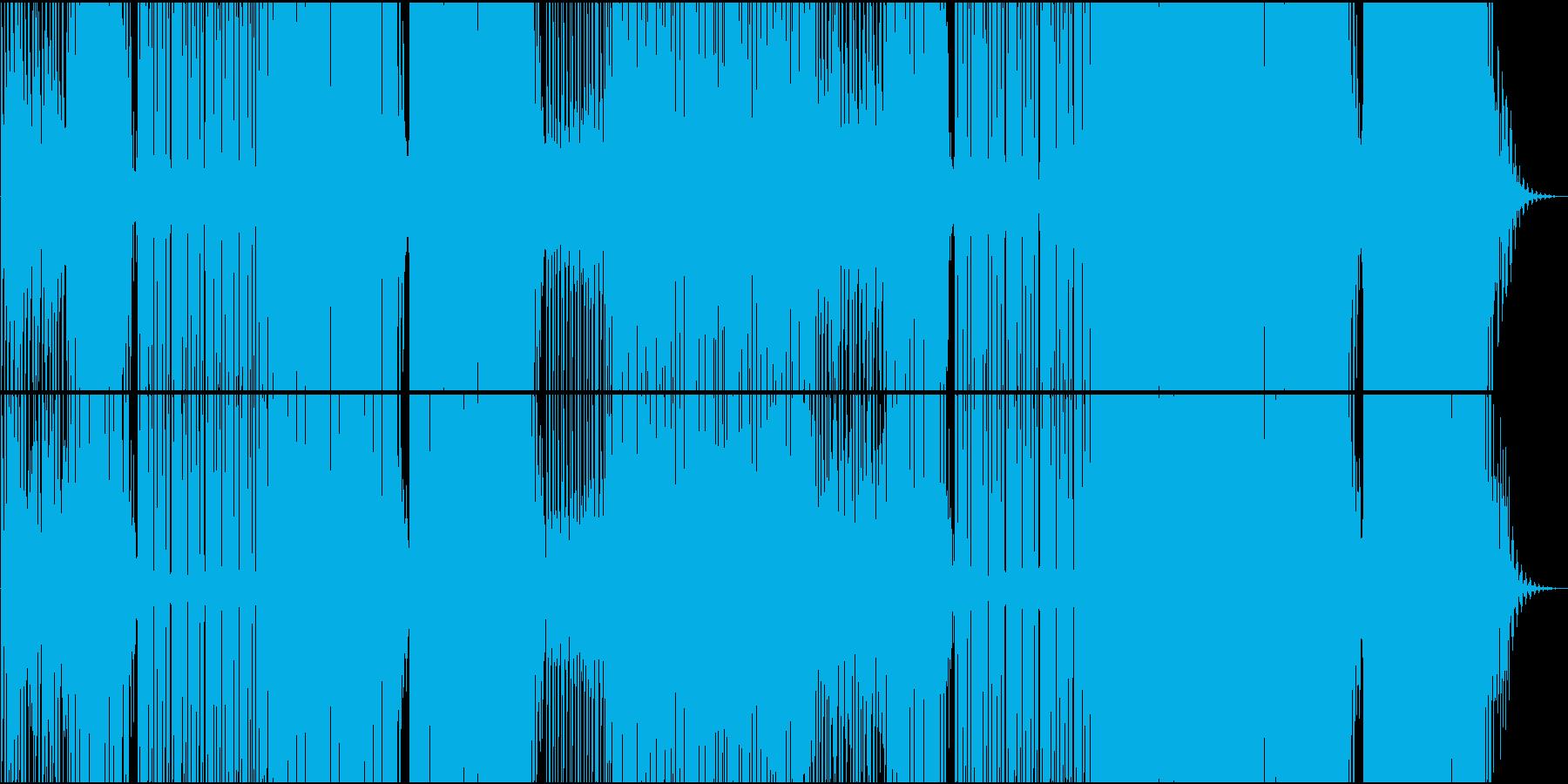 映像用ゆったりReggaeton系EDMの再生済みの波形
