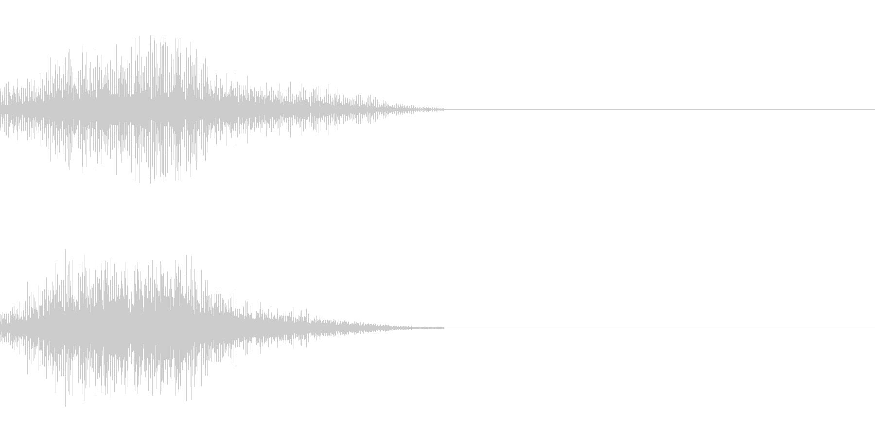 SFの移動音 2の未再生の波形