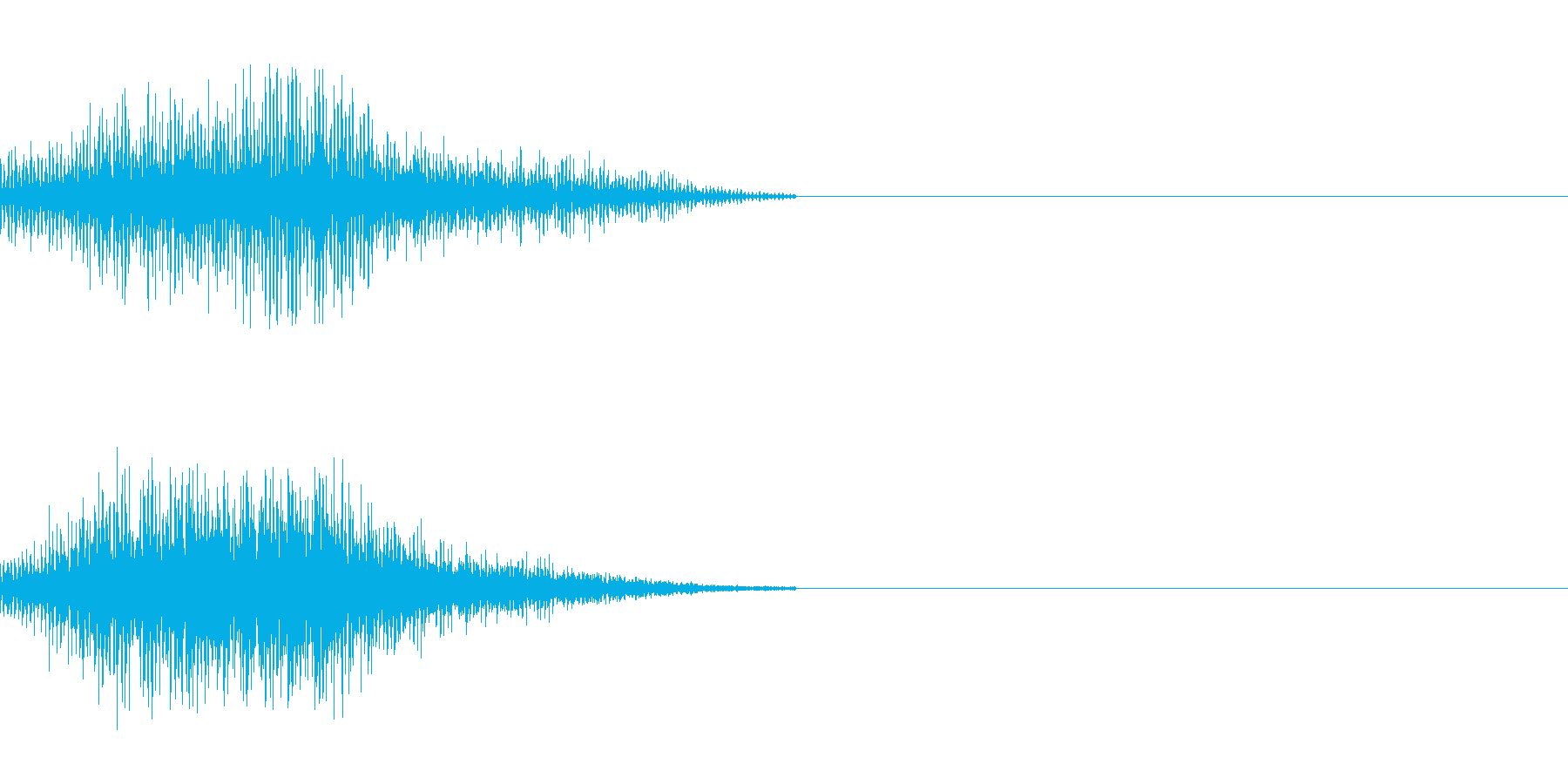 SFの移動音 2の再生済みの波形