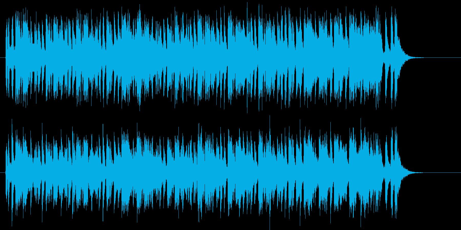陽気なポップスバンドのジングルの再生済みの波形