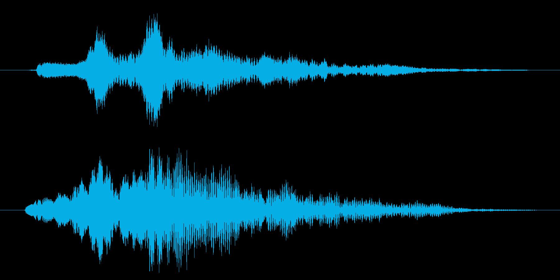 決定音、入店音、スタート音、ベルの再生済みの波形