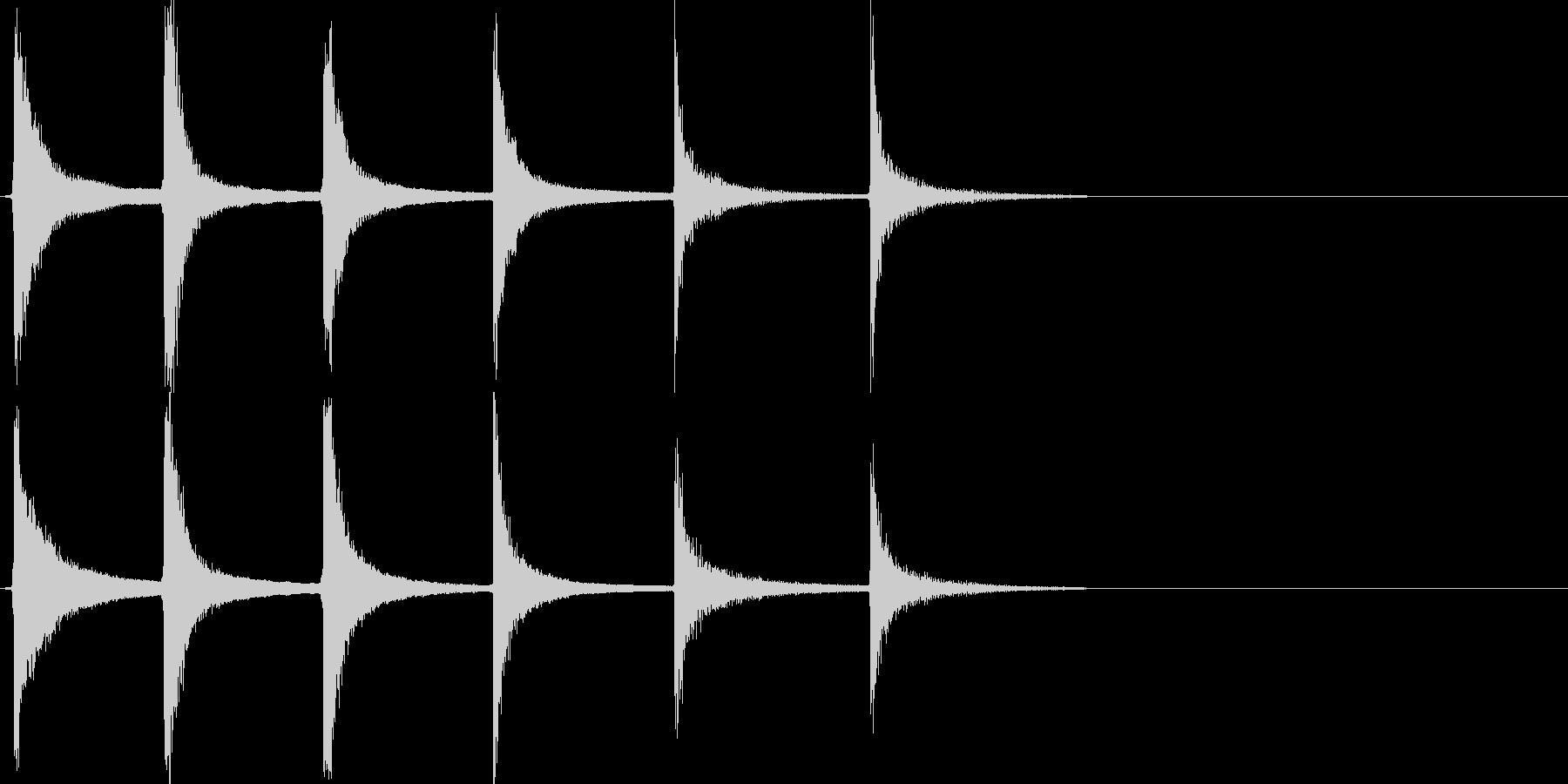 テュンテュンテュン…↓(失敗、コミカル)の未再生の波形