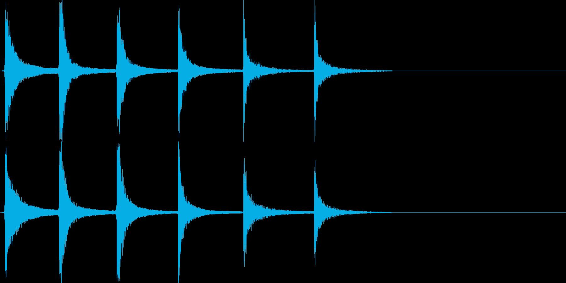 テュンテュンテュン…↓(失敗、コミカル)の再生済みの波形