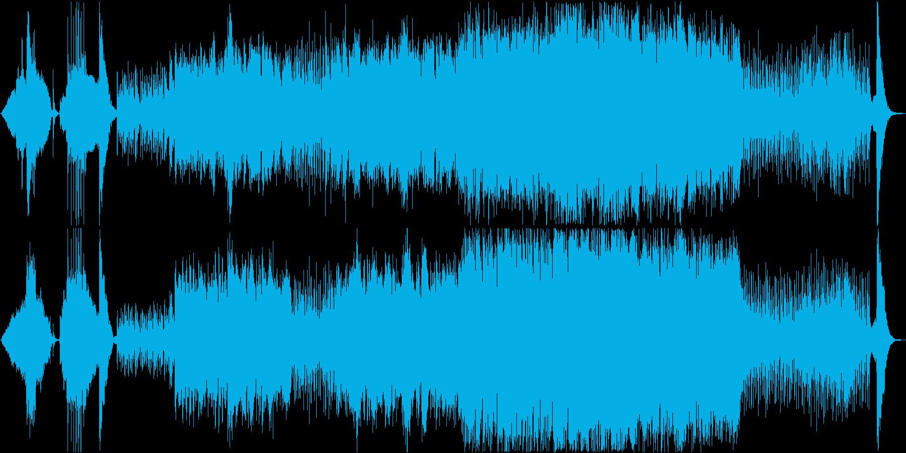 祭りや昔話風の和風BGMの再生済みの波形