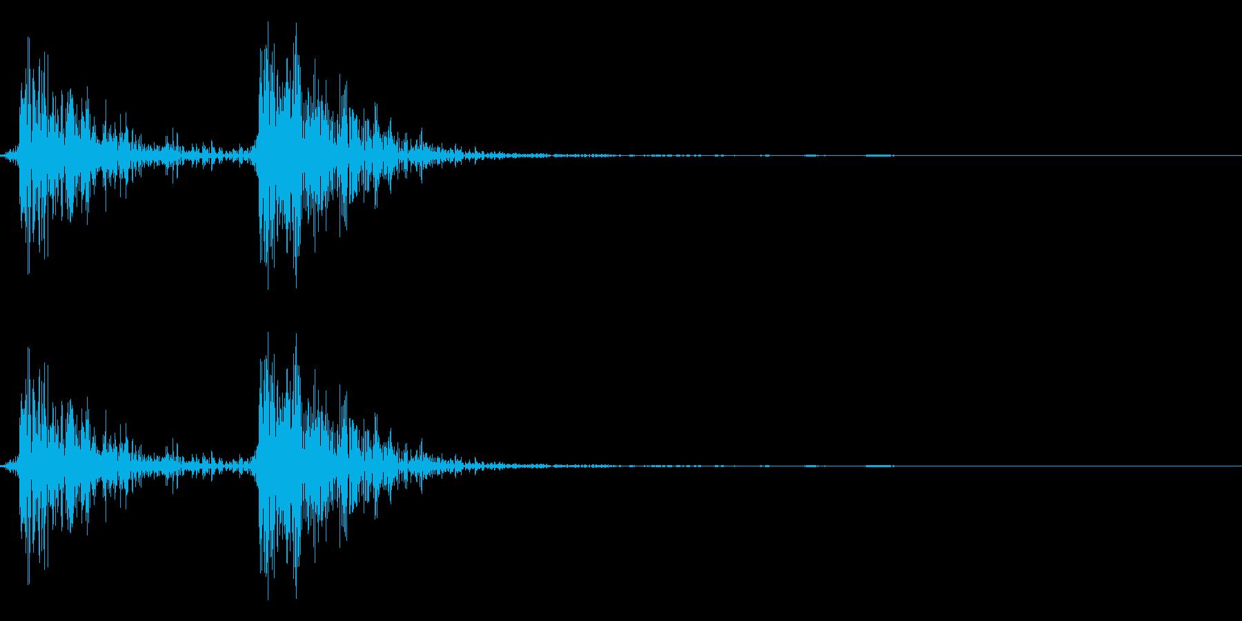 レトロゲームの宝箱を開ける音の再生済みの波形