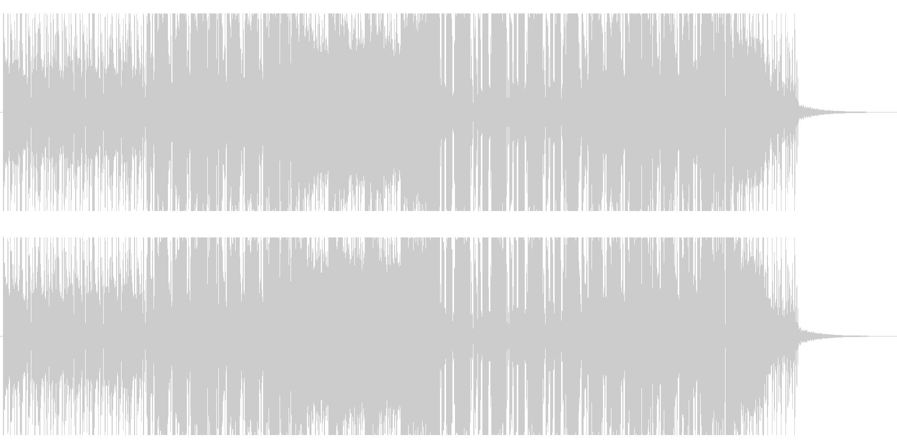 幾何学的なポップEDMの未再生の波形