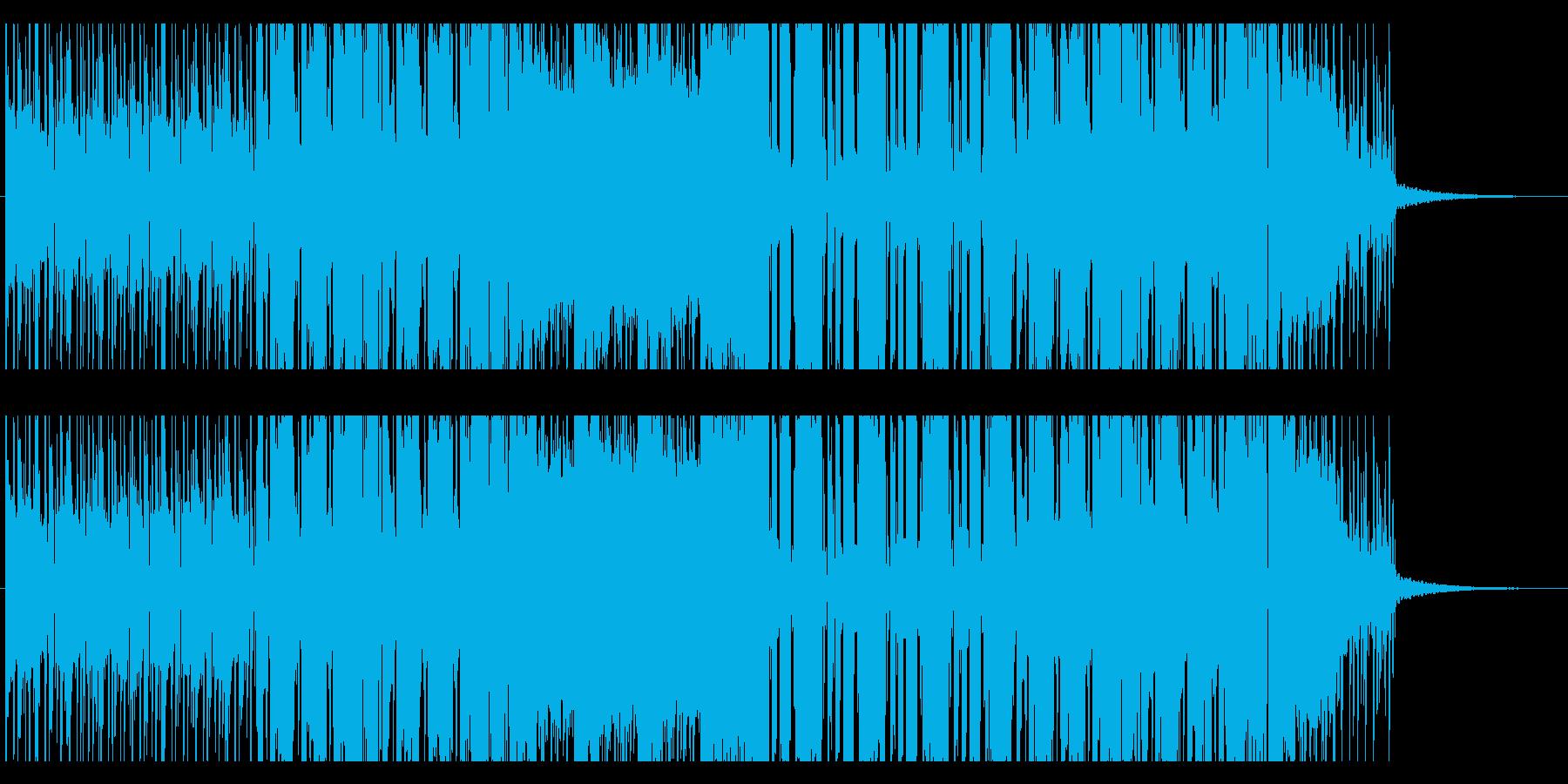 幾何学的なポップEDMの再生済みの波形