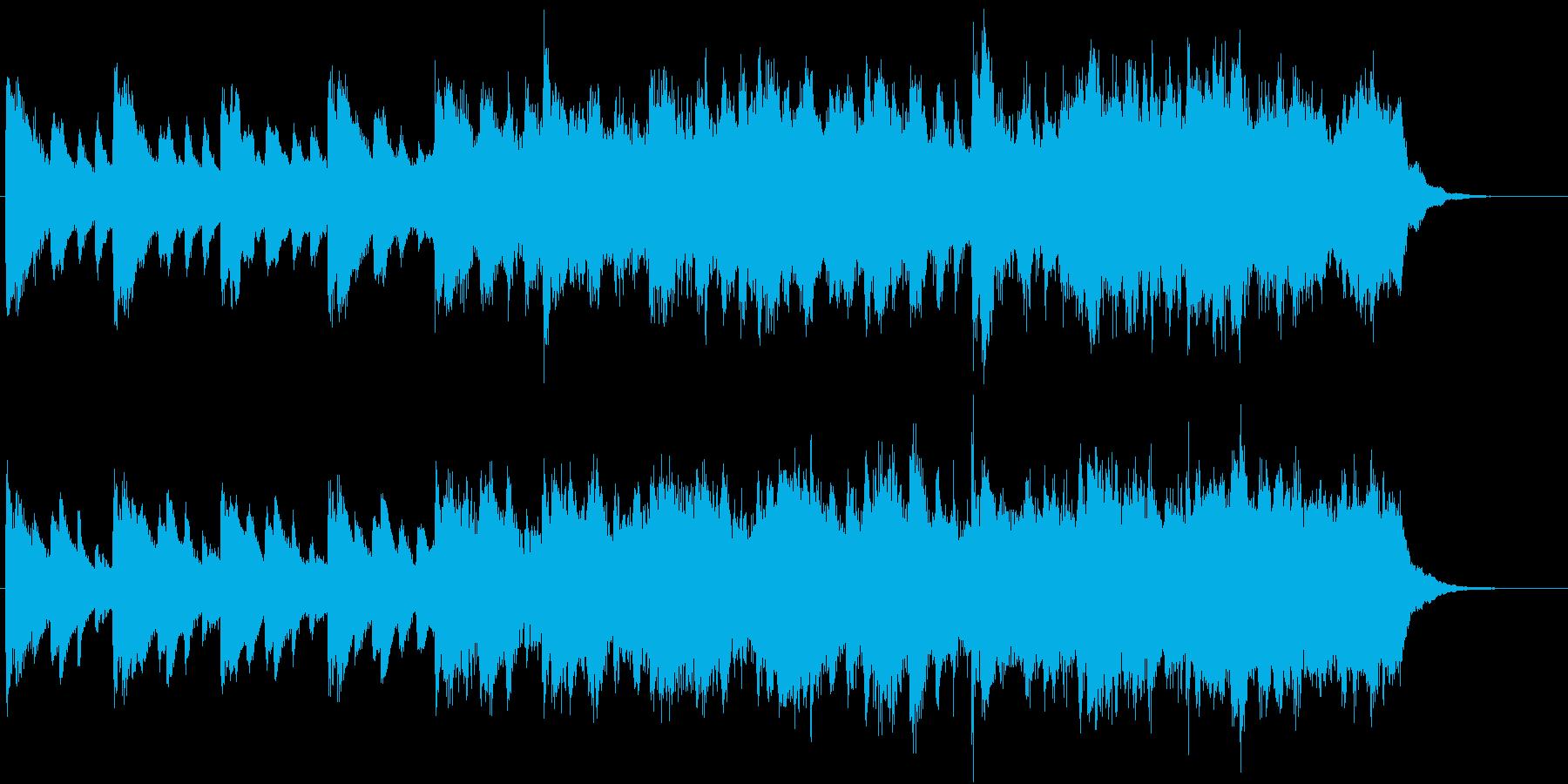 ピアノとストリングスの爽やかな楽曲の再生済みの波形