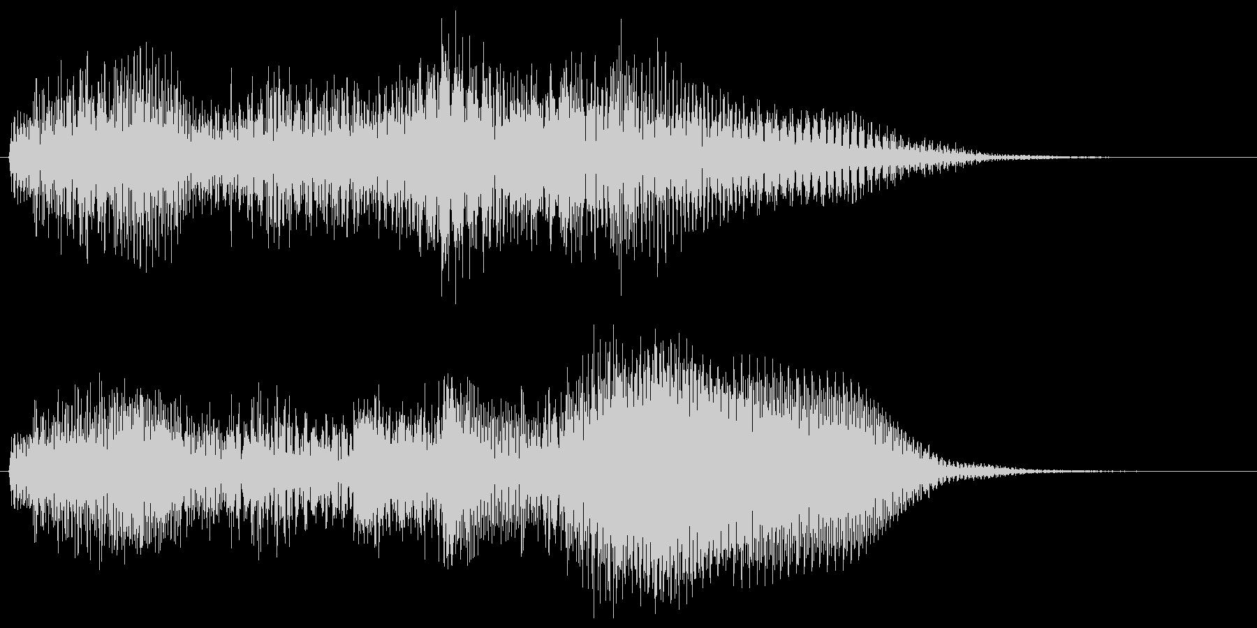 ハープとギターの場面転換 コードじゃらんの未再生の波形