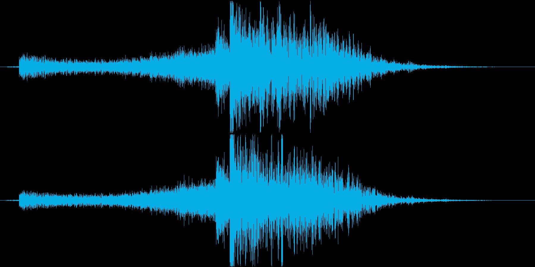 水魔法の音2(大津波で攻撃するイメージ)の再生済みの波形