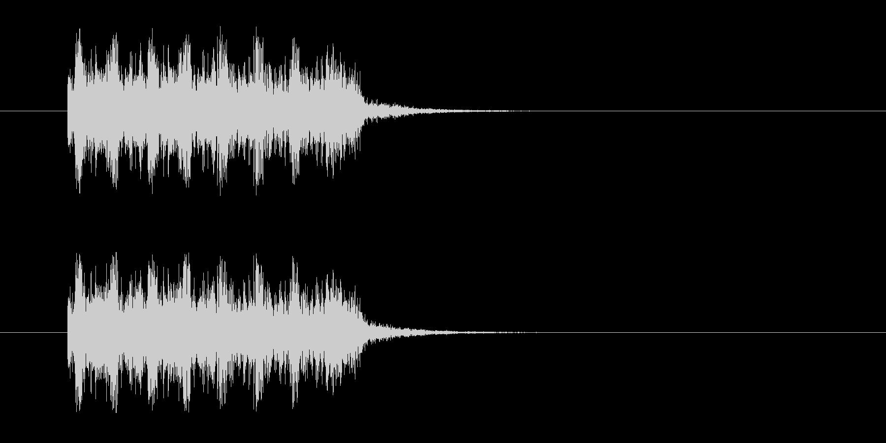 ロックバンドなジングルの未再生の波形