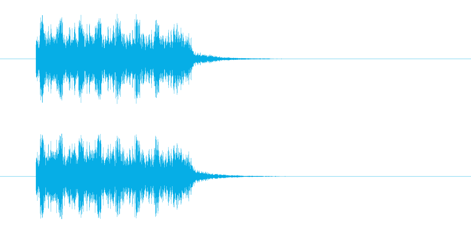 ロックバンドなジングルの再生済みの波形
