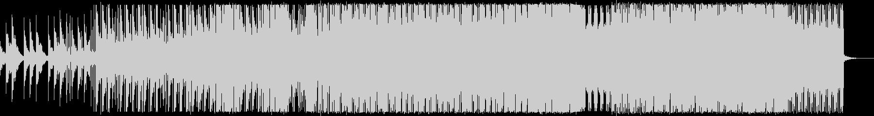 神秘的なピアノのテクノ/アンビエント曲の未再生の波形