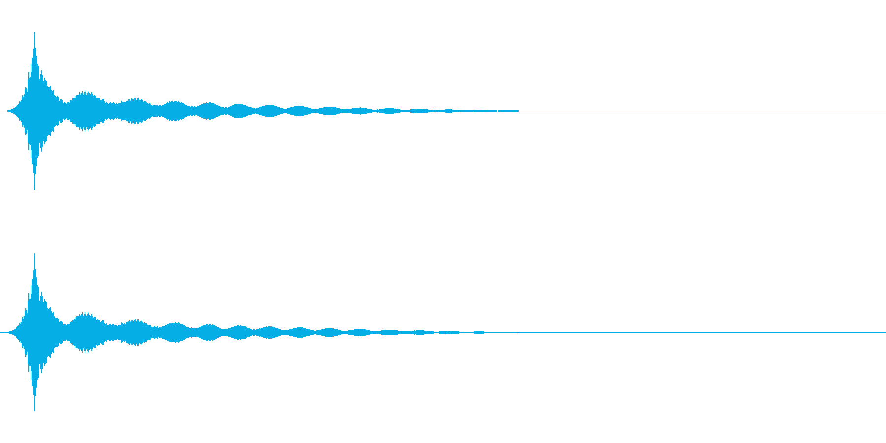 ボヨヨーン(ロング)コミカル効果音の再生済みの波形