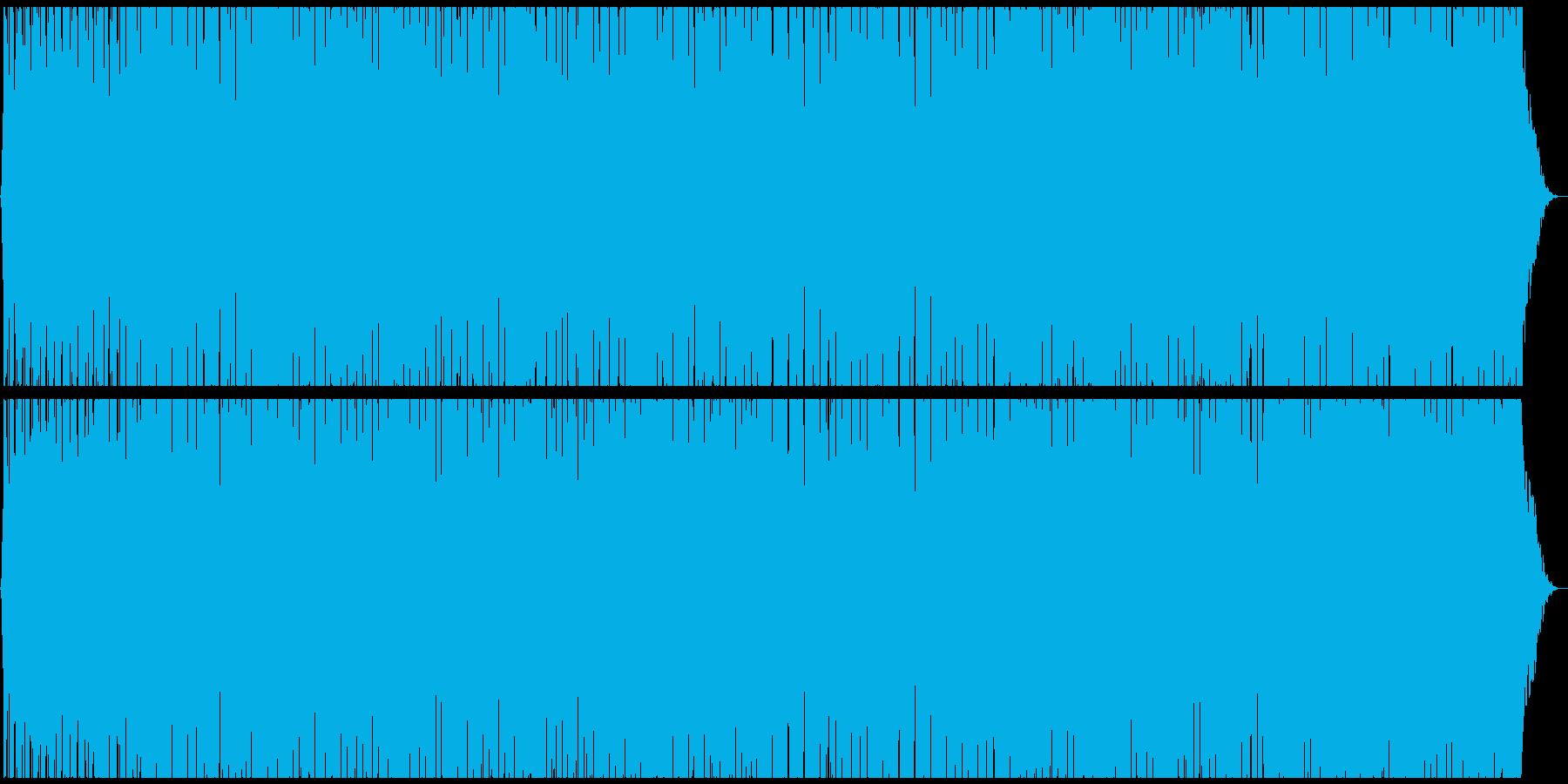 ハードボイルドな雰囲気のエレクトロニカの再生済みの波形