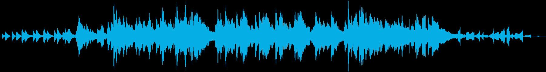 穏やかなアンビエント曲の再生済みの波形