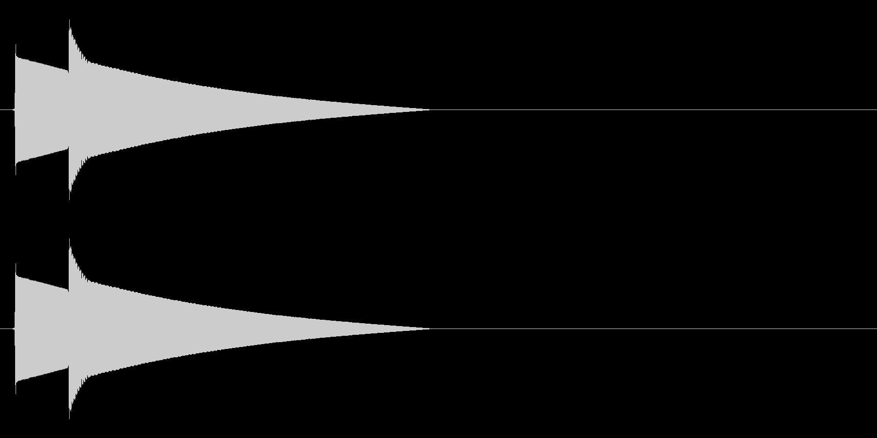 ピポーン(正解、回答、高めの音)の未再生の波形