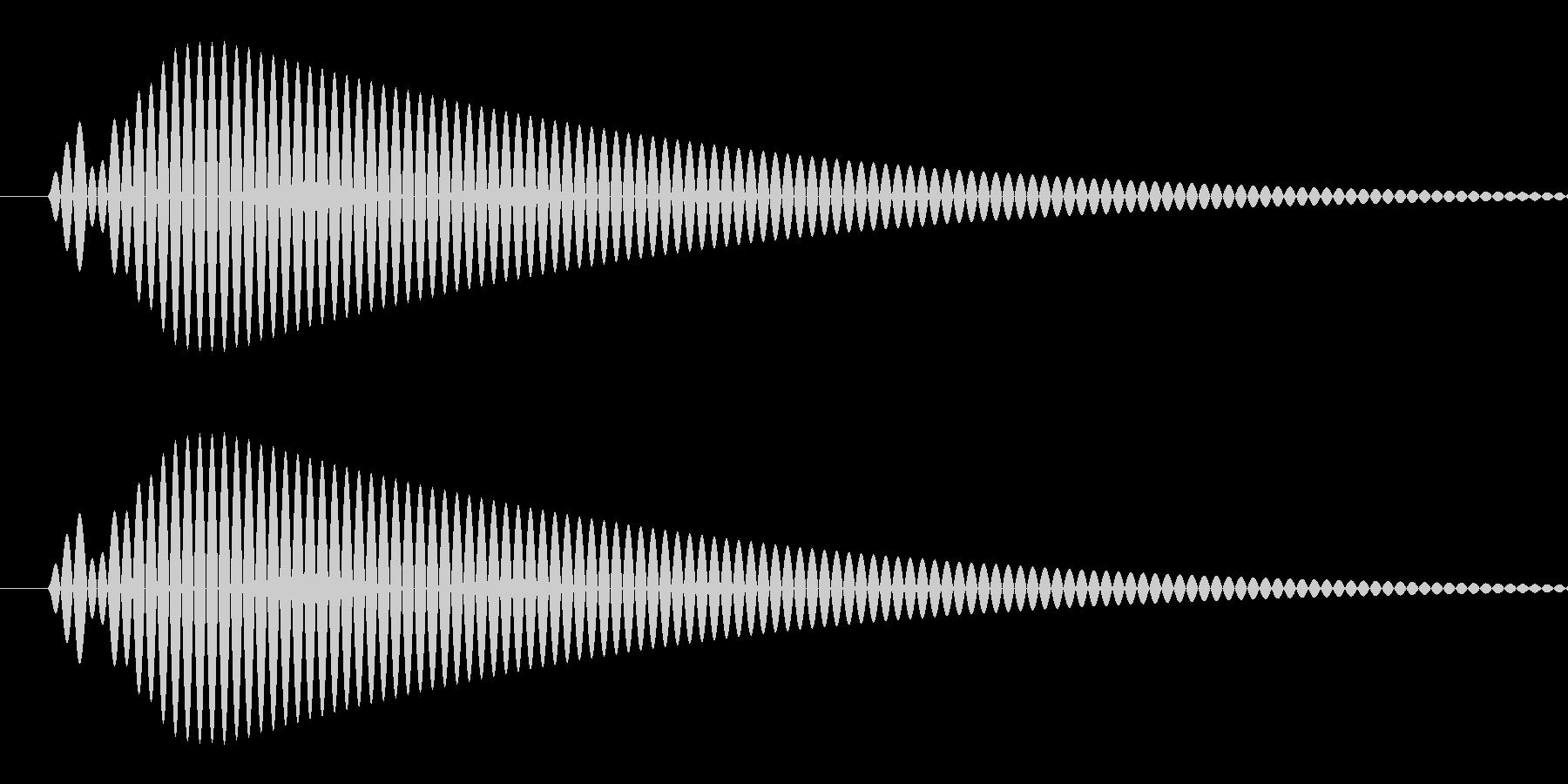 ピッ(選択/カーソル/シンプル/丸い)の未再生の波形