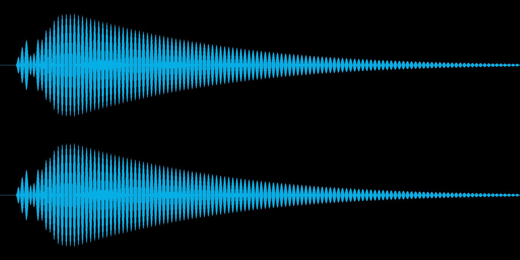 ピッ(選択/カーソル/シンプル/丸い)の再生済みの波形